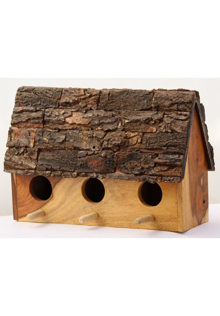 The Bark-Inn - Double entry birdhouse