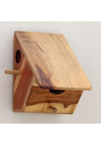 Slant Shelter - Double Entry Birdhouse