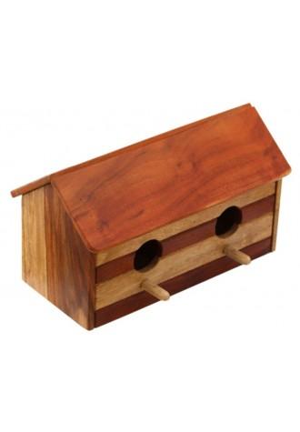 Barn Cabin - Double Entry Birdhouse