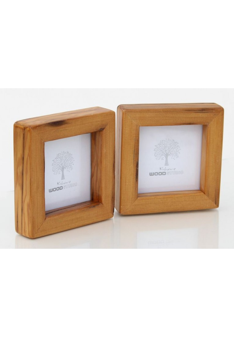 Rusty Pine - Old Pine Wood Picture Frame - Set of Two