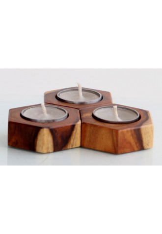 Tree Hex - Rose Wood - Set of Three